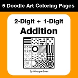2-Digit by 1-Digit Addition - Coloring Pages | Doodle Art Math