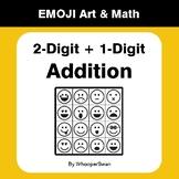 2-Digit by 1-Digit Addition - Emoji Math & Art - Draw by N