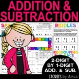2 Digit by 1 Digit Addition and Subtraction with and witho