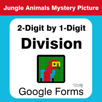2-Digit by 1-Digit Division - Animals Mystery Picture - Google Forms