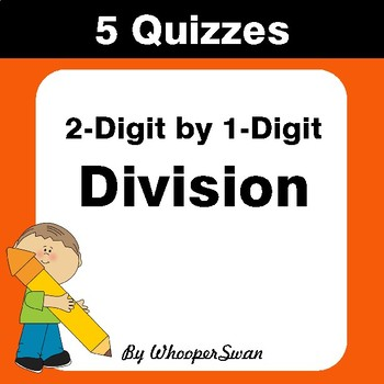 2-Digit by 1-Digit Division Quiz - Test - Assessment - Worksheet