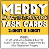 2-digit by 1-digit Multiplication Task Cards