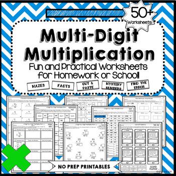 2-Digit by 1-Digit Multiplication