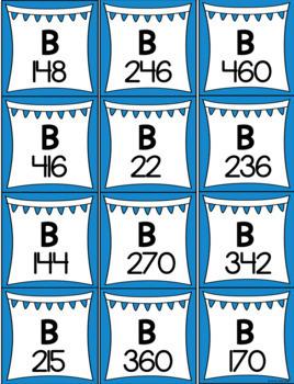 2 Digit by 1 Digit Multiplication BINGO