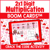 2 Digit by 1 Digit Multiplication Boom Cards™️ | Digital T