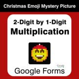 2-Digit by 1-Digit Multiplication - Christmas EMOJI Myster