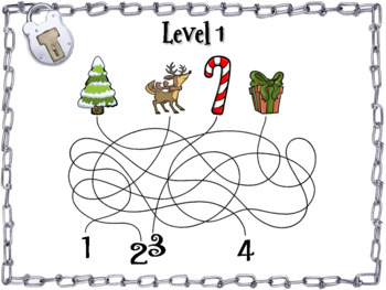 2 Digit by 1 Digit Multiplication Game: Escape Room Christmas Math