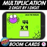2 Digit by 1 Digit Multiplication Halloween Math Boom Cards