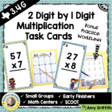 2 Digit by 1 Digit Multiplication Task Cards TEKs 3.4G