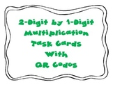 2-Digit by 1-Digit Multiplication Task Cards with QR Codes