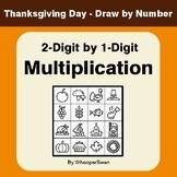 Thanksgiving Math: 2-Digit by 1-Digit Multiplication: Math