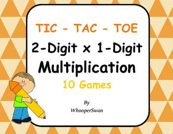 2-Digit by 1-Digit Multiplication Tic-Tac-Toe