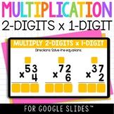 Digital 2 Digit by 1 Digit Multiplication Practice for Goo
