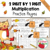 2 Digit by 1 Digit Multiplication using Partial Products {