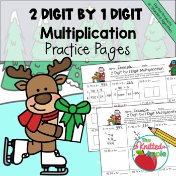 2-Digit by 1-Digit Multiplication using Partial Products {