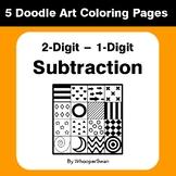 2-Digit by 1-Digit Subtraction - Coloring Pages | Doodle Art Math