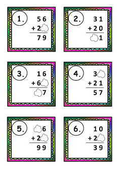 2-Digit by 2-Digit Addition and Subtraction Scoot and Task Cards