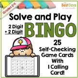 2 Digit by 2 Digit Addition with Regrouping Bingo