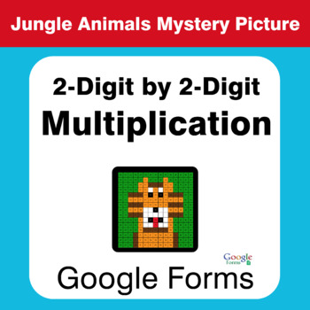 2-Digit by 2-Digit Multiplication - Animals Mystery Picture - Google Forms