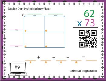 Double Digit Multiplication Area Model QR Codes