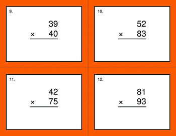 2-Digit by 2-Digit Multiplication BINGO and Task Cards