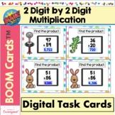 2 Digit by 2 Digit Multiplication Boom Cards