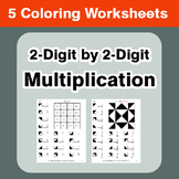 2-Digit by 2-Digit Multiplication - Coloring Worksheets