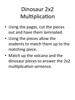 2 Digit by 2 Digit Multiplication Game