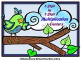 2-Digit by 2-Digit Multiplication Match-Up Centers - Bird Theme