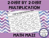 2 Digit by 2 Digit Multiplication Math Maze NO PREP ACTIVITY