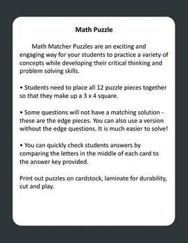 2-Digit by 2-Digit Multiplication Puzzles