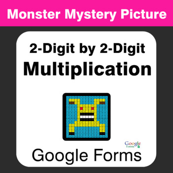 2-Digit by 2-Digit Multiplication - Monster Mystery Picture - Google Forms