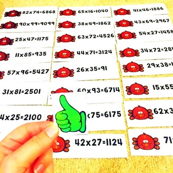 2 Digit by 2 Digit Multiplication Thanksgiving Game