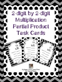 2 Digit by 2 Digit Multiplication Partial Products Task Cards