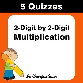 2-Digit by 2-Digit Multiplication Quiz - Test - Assessment - Worksheet