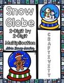 2 Digit by 2 Digit Multiplication Snow Globe Craftivity