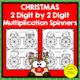 2 Digit by 2 Digit Multiplication Spinners   Christmas The