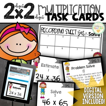 2-Digit by 2-Digit Multiplication Task Cards