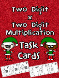 2 Digit by 2 Digit Multiplication Task Cards (Christmas Theme)
