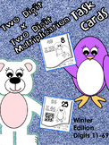 2 Digit by 2 Digit Multiplication Task Cards (Winter Animal Theme)