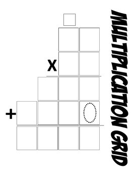 Math Multiplication Template 2-digit by 2-digit (Common Core Aligned)