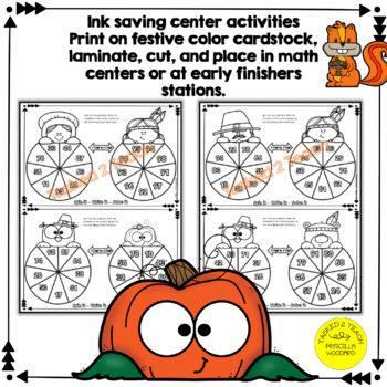2 Digit by 2 Digit Multiplication - Thanksgiving Spinners 4.NBT.B.5