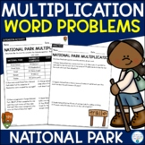 2 Digit by 2 Digit Multiplication Word Problems (National Parks)
