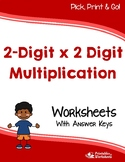 2 By 2 Multiplication Worksheets, Multiplying Double Digits Practice Sheets