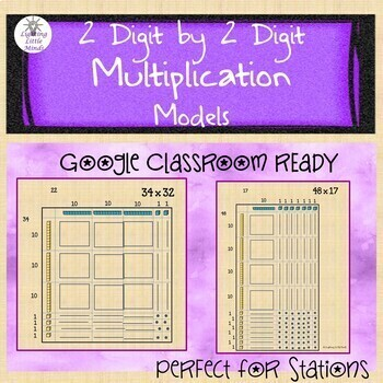 2 Digit by 2 Digit Multiplication for Google Classroom