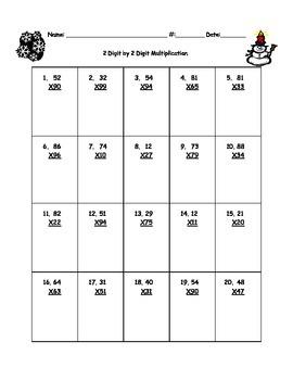 2 Digit by 2 Digit Multiplication practice