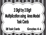 2 Digit by 2 Digit Multiplication using Area Model Task Cards