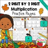 2 Digit by 2 Digit Multiplication using Partial Products {Fall Theme}