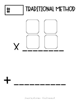 2 Digit by 2 Digit Task Cards Work Mat