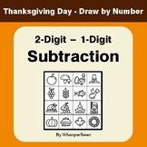 Thanksgiving Math: 2-Digit - 1-Digit Subtraction - Math &